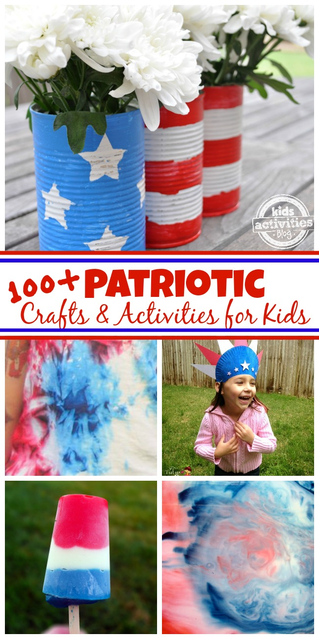 Patriotric crafts and activities for kids