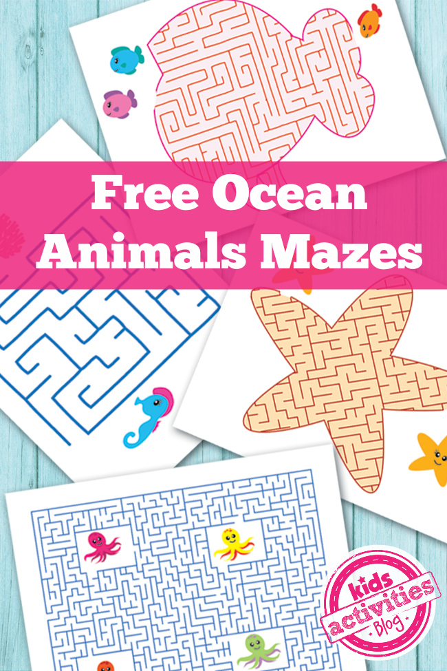 Free Ocean Animals Printable Mazes For Kids