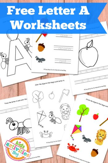 Letter A Worksheets for Kids