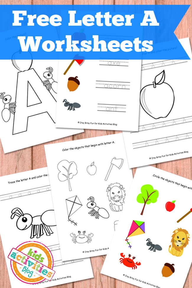 letter a worksheets free kids printables. Black Bedroom Furniture Sets. Home Design Ideas