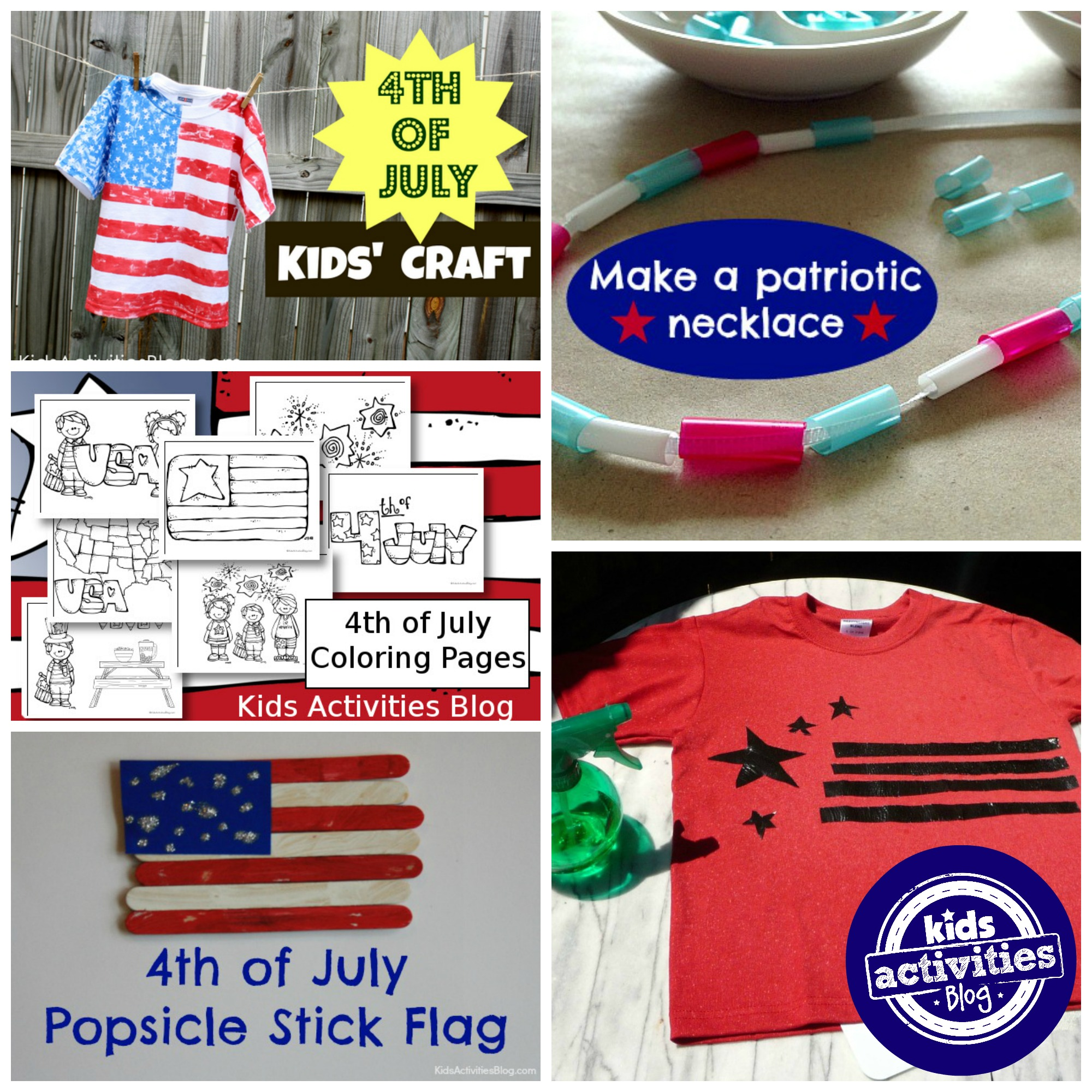 american flag fourth of july craft kids