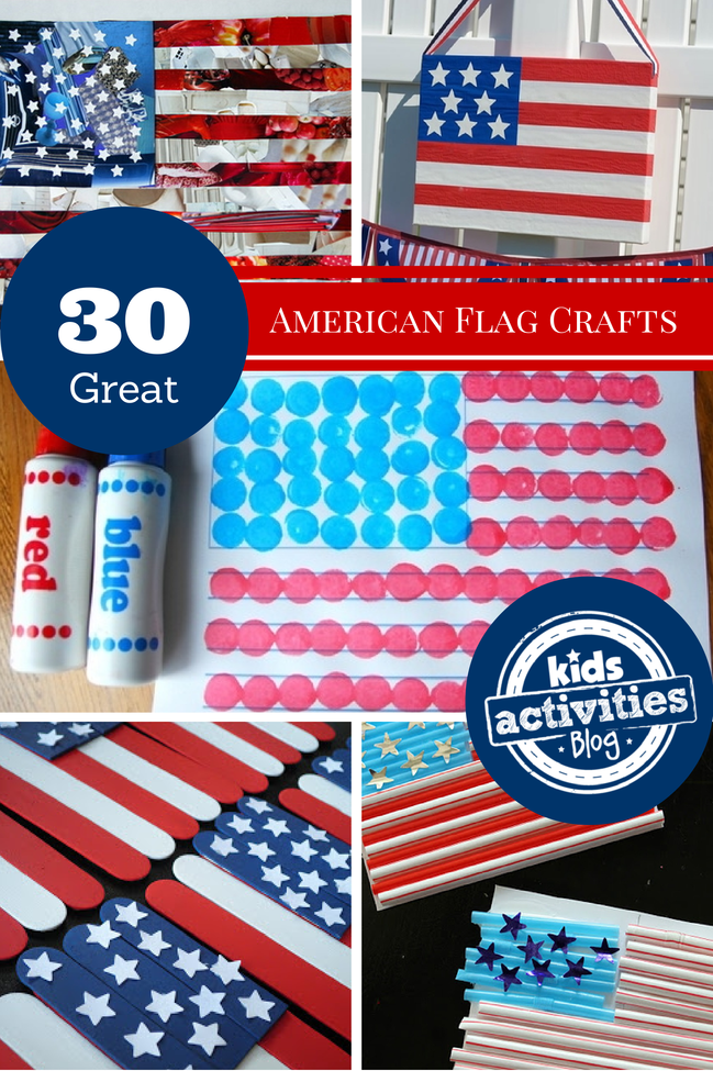 american flag fourth of july crafts for kids
