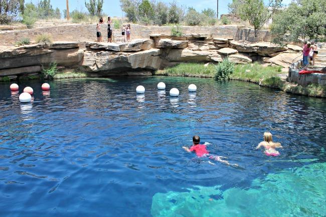 blue hole new mexico sinkhole swimming
