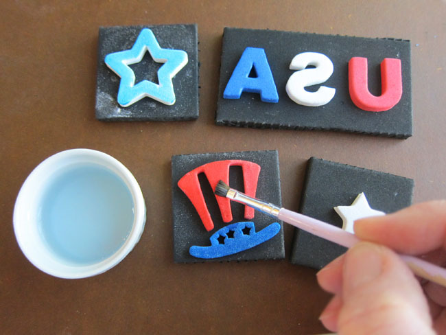 Patriotic Foam Stamps