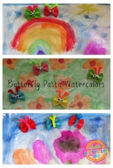 Butterfly Pasta Watercolor Art