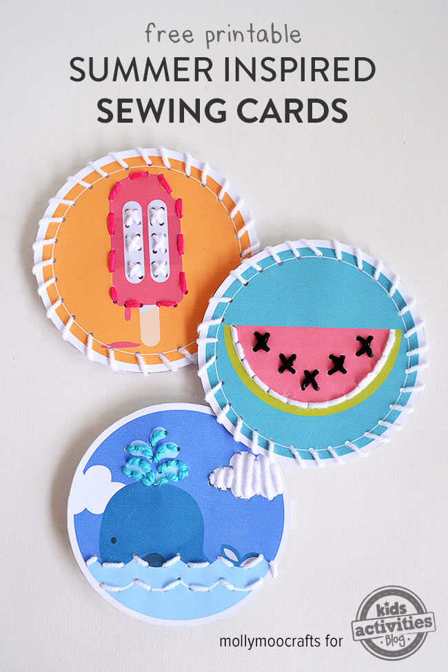 Free Fun Summer Inspired Printable Sewing Cards