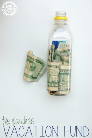 how to save for a vacation jar
