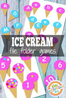 Ice Cream File Folder Games Free Kids Printable