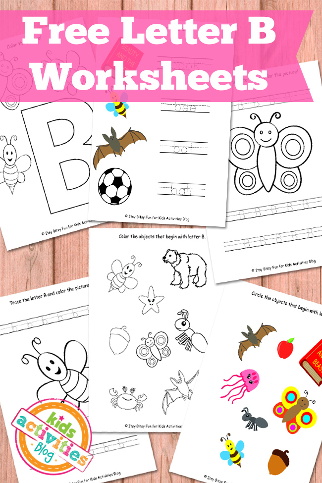 Letter B Worksheets Free Kids Printables – Letter B Worksheets