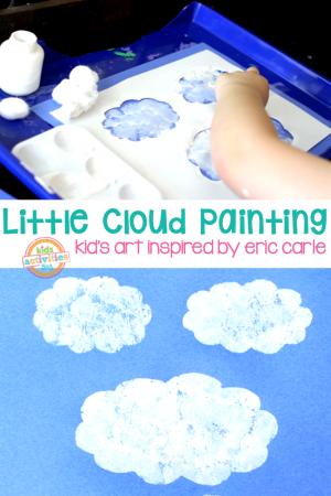 Little Cloud Art Painting Eric Carle