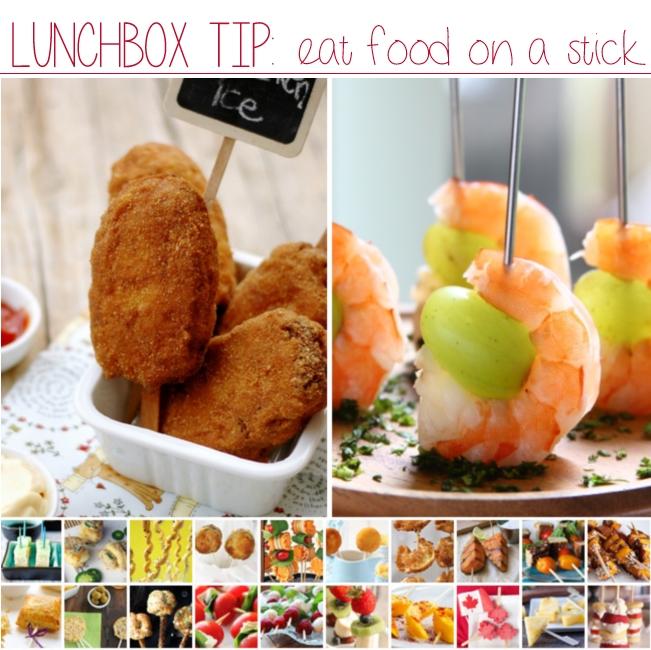 serve food on a stick
