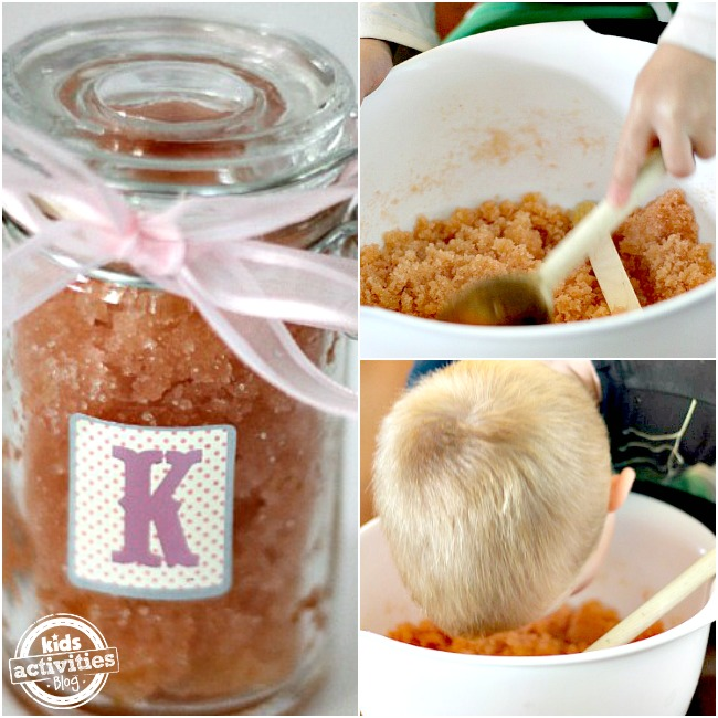 sugar scrub collage