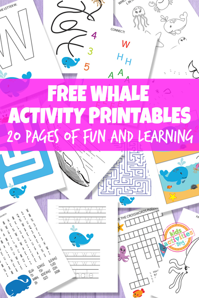 fun printable activities for kids whale printable activities for 408