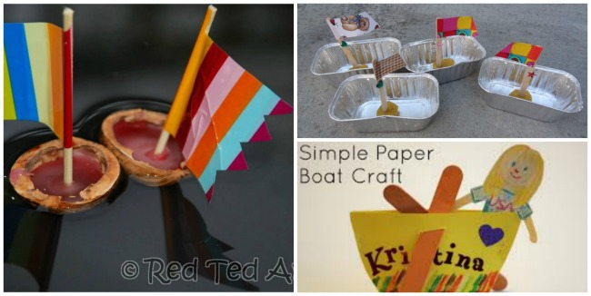 """3 homemade boats for kids to make"""