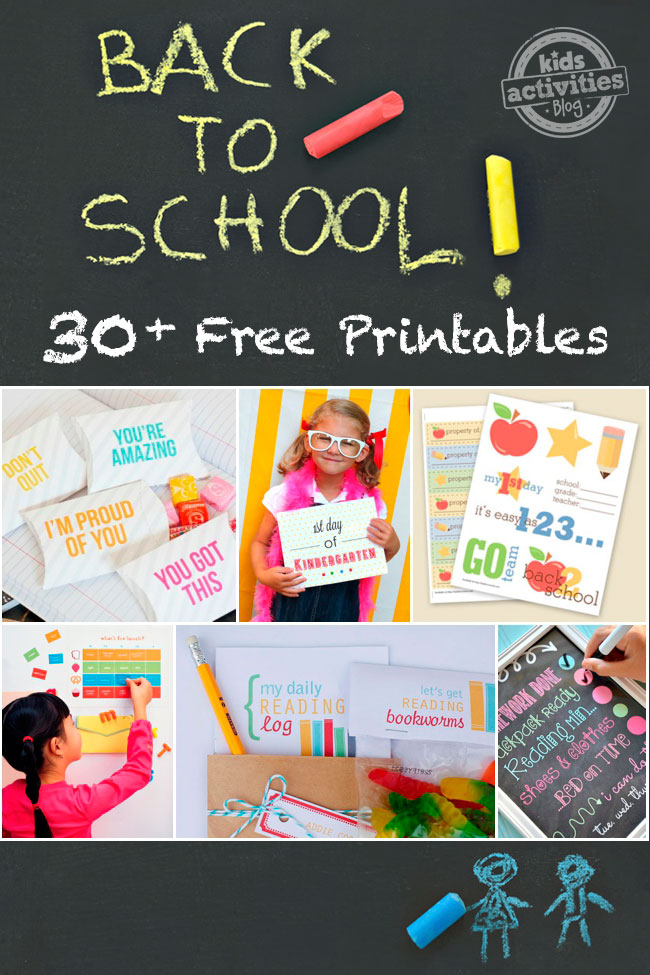 30 Great Back To School Free Printables and counting
