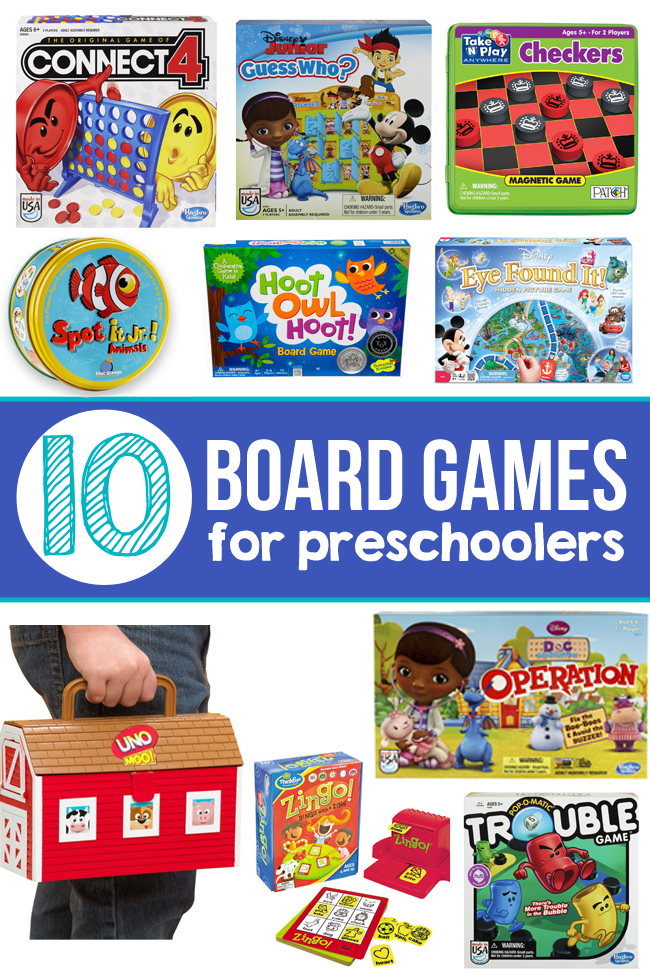 10 of The Best Board Games for Preschoolers
