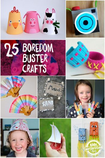 25 boredom buster crafts for summer
