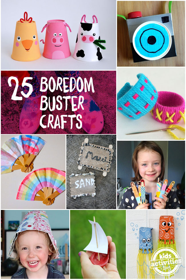Mom I M Bored 25 Summer Boredom Buster Crafts