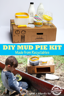 Make a Mud Pie Kit from Recyclables