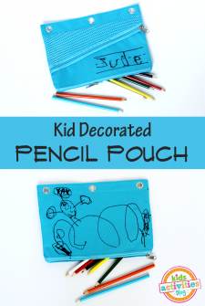 {Back to School Craft!} Kid Decorated Pencil Pouch