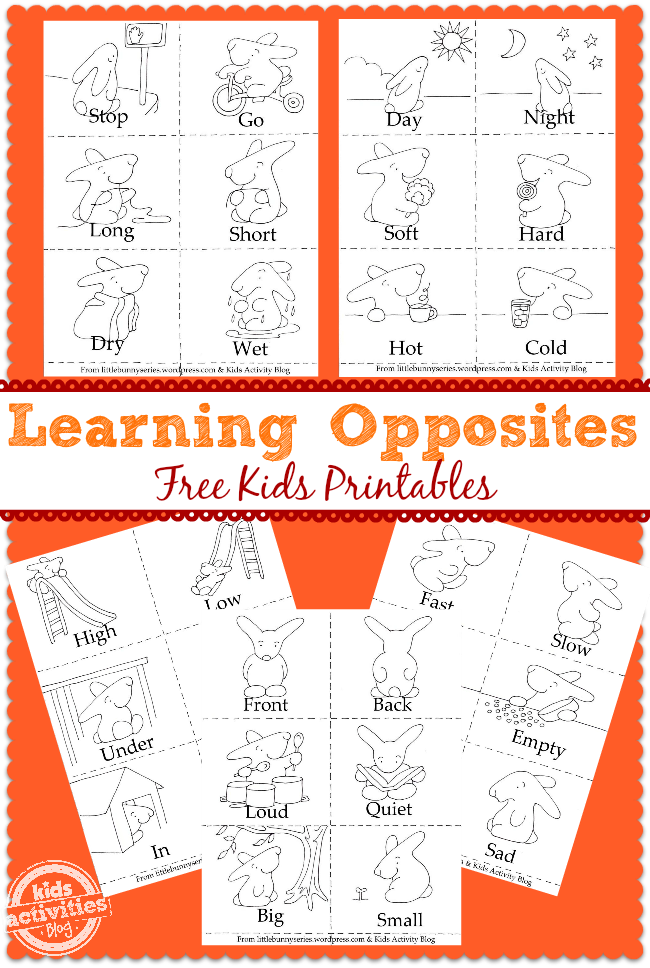 Learning Opposites free kids printables2