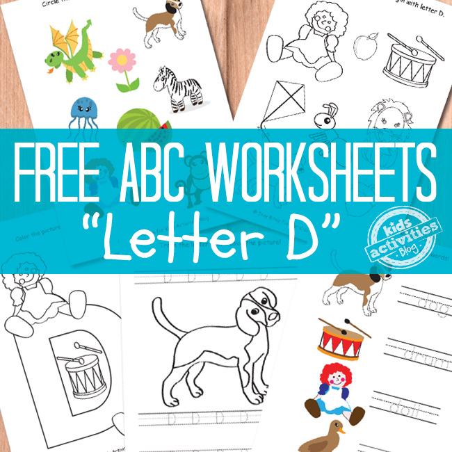 D Worksheets Free Kids Printable – Free Kids Worksheets