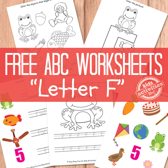 F Worksheets Free Kids Printable – Letter F Worksheets for Kindergarten