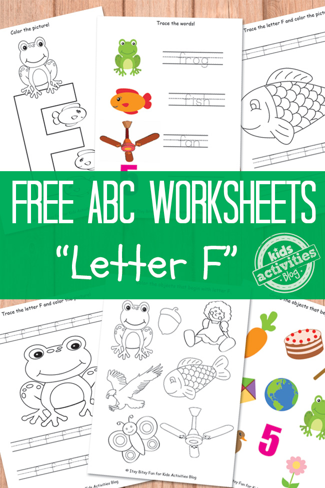 letter f worksheets free kids printable. Black Bedroom Furniture Sets. Home Design Ideas