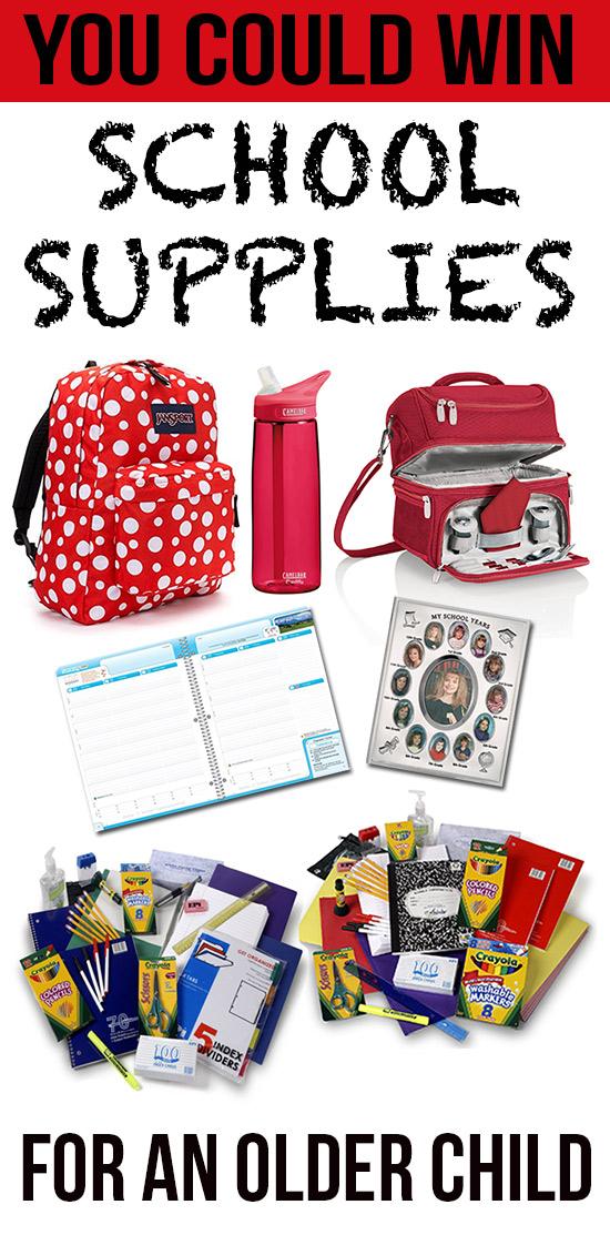 School Supplies- Older Child