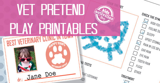 Vet Pretend Play Free Kids Printables