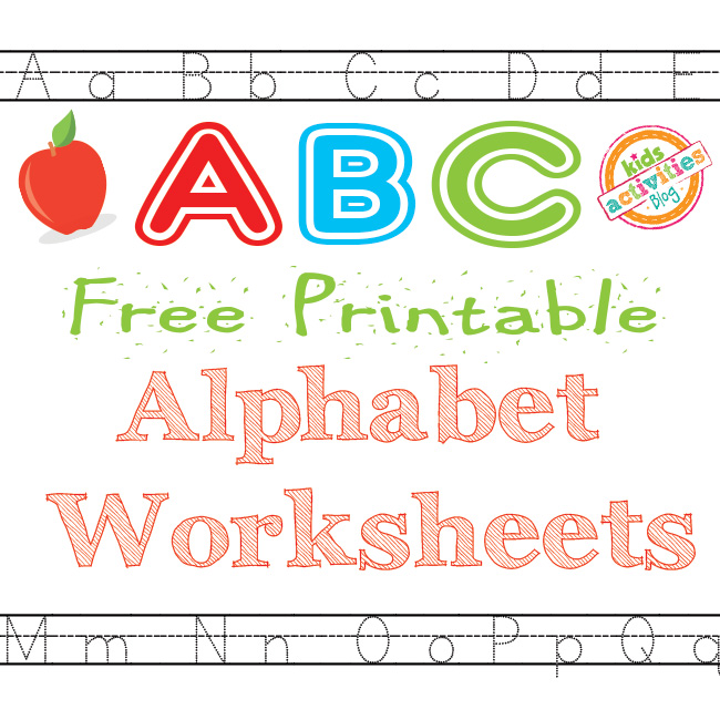 image relating to Alphabet Printable Worksheets known as Alphabet Worksheets Totally free Youngsters Printable