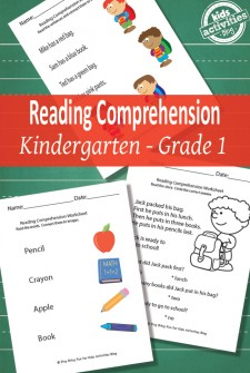 Back to School Reading Comprehension