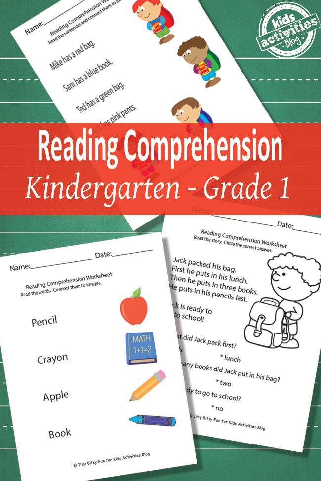 Insane image regarding free printable kindergarten reading worksheets