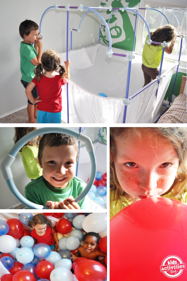 balloon party fort