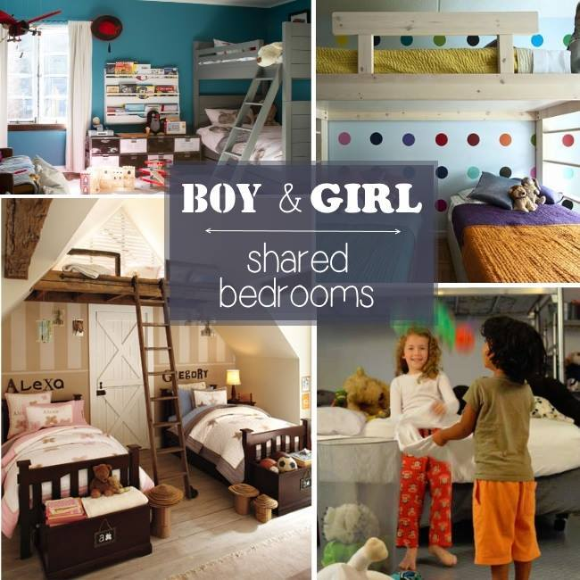 Boy girl shared bedroom ideas for Boy and girl bedroom designs