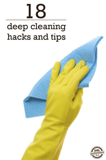 hacks and tips for deep cleaning