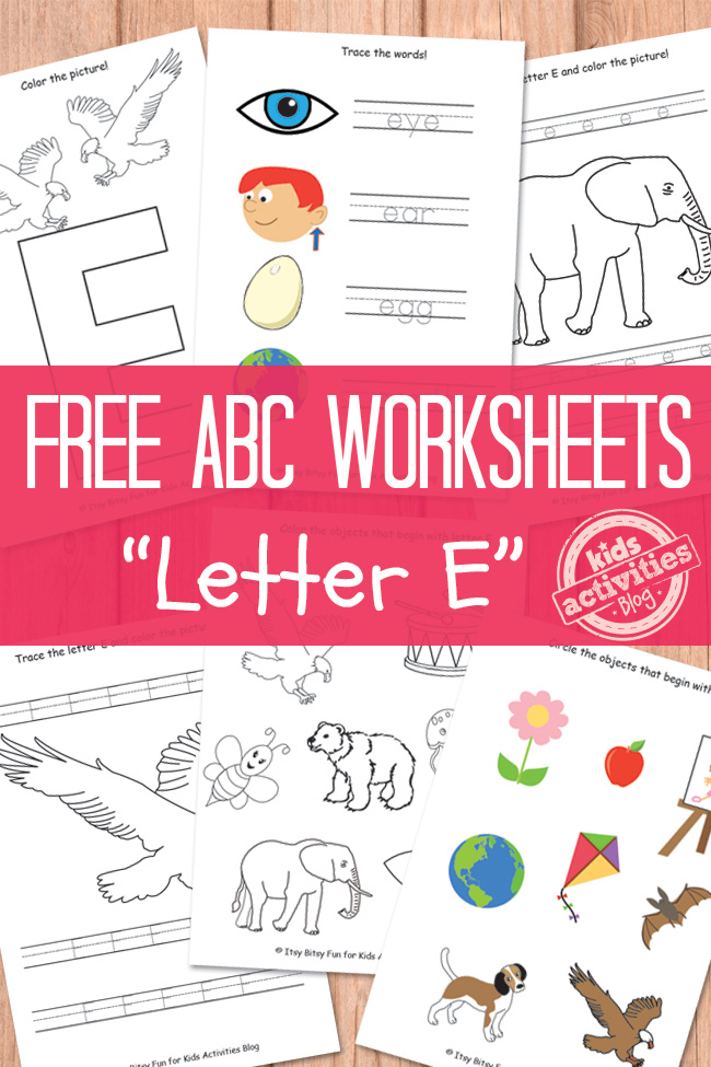 Letter E Worksheets Free Kids Printable – Letter E Worksheets