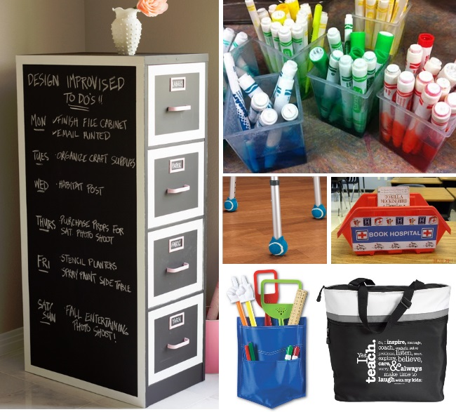 Classroom Storage Ideas ~ Classroom hacks kids activities