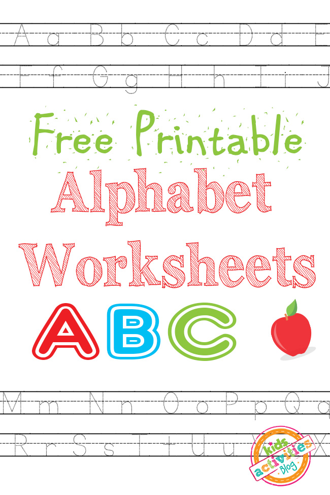 Alphabet Worksheets Free Kids Printable – Free Printable Kindergarten Alphabet Worksheets
