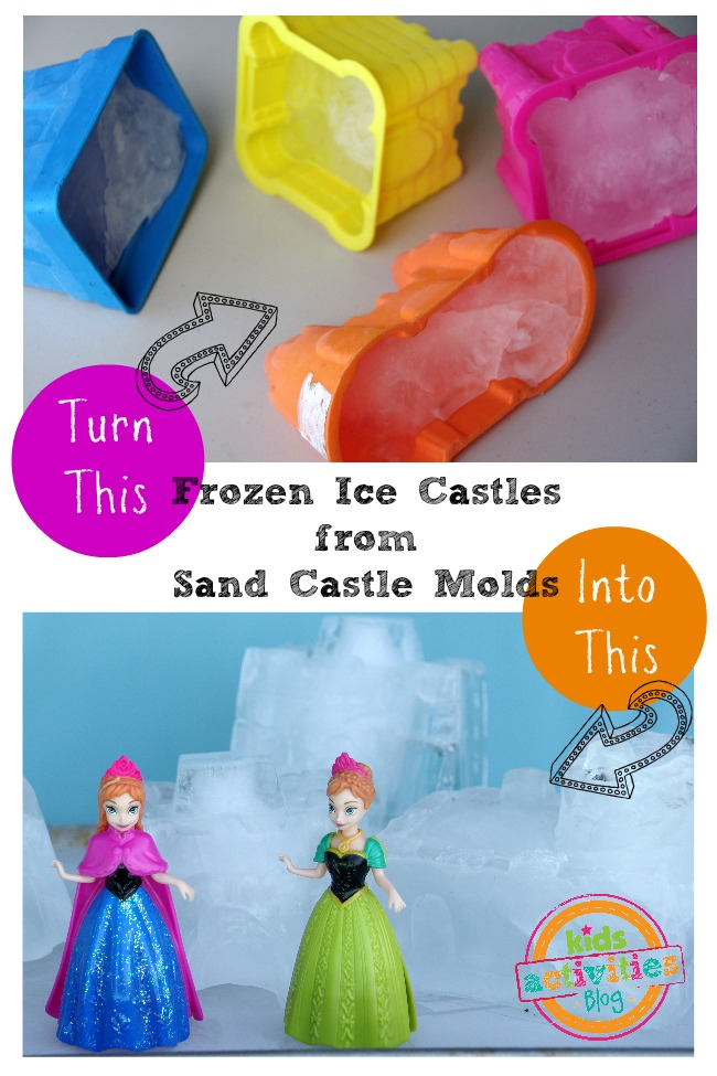 frozen ice castles from sand castle molds