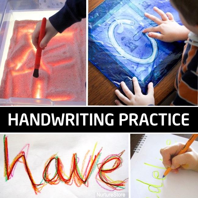 activités de pratique de l'écriture manuscrite pour les tout-petits enfants d'âge préscolaire