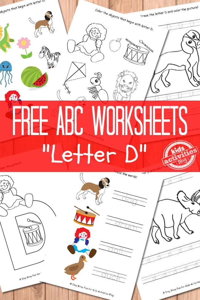 Letter D Worksheets Free Kids Printable