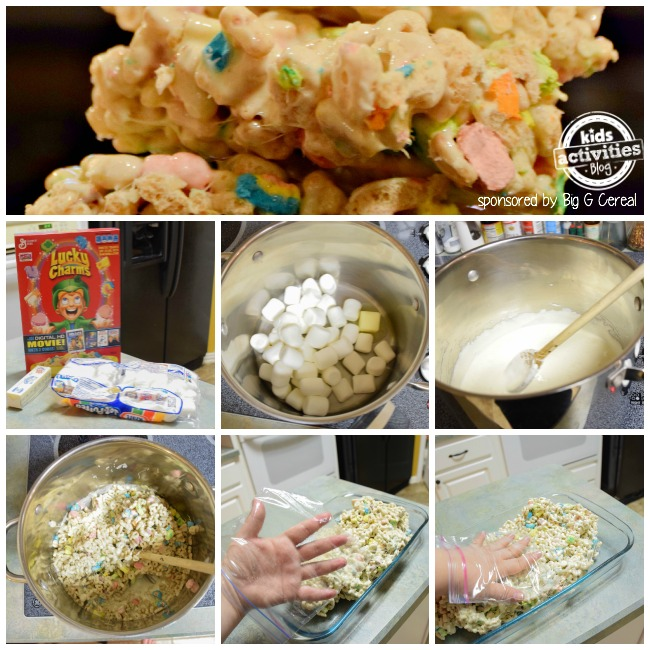lucky charm treat collage
