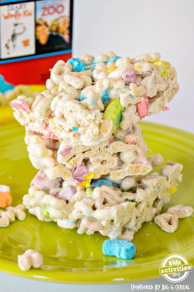 lucky charms treats sponsored by big g cereal
