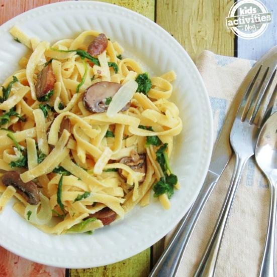 one pot pasta recipe with mushrooms