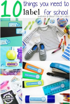 10 things you need to label for back to school