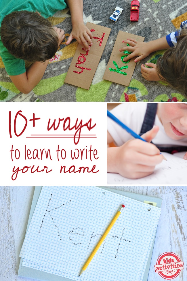 Practicing how to write your name