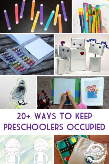 keep preschoolers occupied