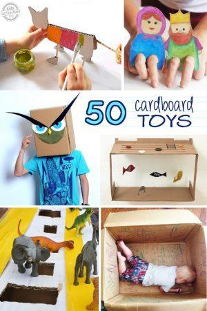 50 cardboard toys for kids