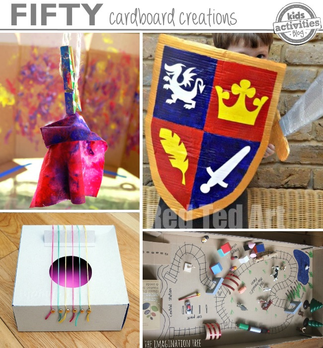 50 ways your kids can create with cardboard